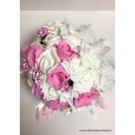 Boeket Wit roze (groot)