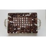 Chocolade schaal rechthoek