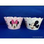 Cup cake Mickey/Minnie Mouse (12st)