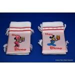 Mickey / Minnie Mouse verjaardag zakje Happy Birthday