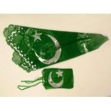 Henna doek + handschoen groen
